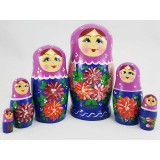 Nesting doll 6 pcs. Dahlias
