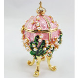 Copy Of Faberge 2987-003 egg jewelry box, pink