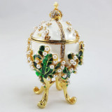Copy Of Faberge 1979-003 egg jewelry box, white
