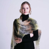 Pavlovo Posad Shawl Downy shawl handmade stole down openwork,...