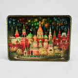 Lacquer Box with elements of hand painting ballet dancer