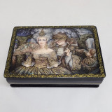 Lacquer Box with elements of hand painting Masquerade, 15 x  11