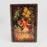 Lacquer Box with elements of hand painting Ivanushka and the Frog...