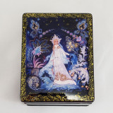 Lacquer Box with elements of hand painting Snow Maiden