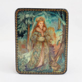 Lacquer Box with elements of hand painting Snow Maiden, Mikheev