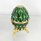 Copy Of Faberge 4326 egg jewelry box, green