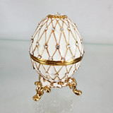 Copy Of Faberge 4326 egg jewelry box, white