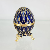 Copy Of Faberge 4326 egg jewelry box, blue