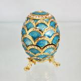 Copy Of Faberge 3193-002 egg jewelry box, light blue