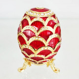 Copy Of Faberge 3193-002 egg jewelry box, red