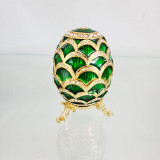 Copy Of Faberge 3193-002 egg jewelry box, green