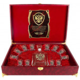 Gift engraved Gifts for men Carafes of vodka with stacks 8371