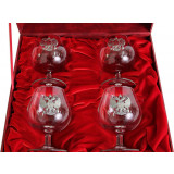 Gift engraved Gifts for men A set of wine glasses for brandy 9567