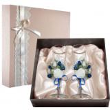 Gift engraved Wedding glasses 9863