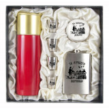 Gift engraved Gifts for men Flask sets, stack with thermos 11662