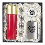 Gift engraved Gifts for men Flask sets, stack with thermos 11663