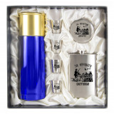 Gift engraved Gifts for men Flask sets, stack with thermos 11666