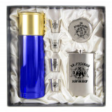 Gift engraved Gifts for men Flask sets, stack with thermos 11667