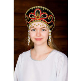 Russian folk costume KOKOSHNIKI Kokoshnik Viktorija 16187
