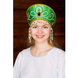 Russian folk costume KOKOSHNIKI Kokoshnik Victoria 16194