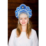 Russian folk costume KOKOSHNIKI Kokoshnik Elena 16218