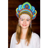 Russian folk costume KOKOSHNIKI Kokoshnik Elena 16226