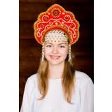Russian folk costume KOKOSHNIKI Kokoshnik Larisa 16239