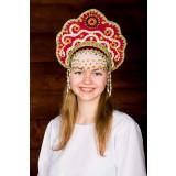 Russian folk costume KOKOSHNIKI Kokoshnik Larisa 16245