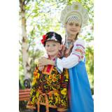 Russian folk costume KOSOVOROTKAS Kosovorotka khokhloma 16609