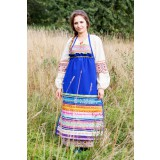 Russian folk costume APRONS blue, 115