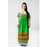 Russian folk costume APRONS green, 115