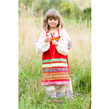Russian folk costume APRONS red, 115