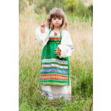 Russian folk costume APRONS green, 115 cm