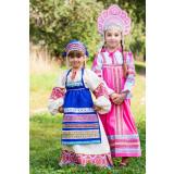 Russian folk costume APRONS pink, 115