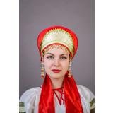 Russian folk costume KOKOSHNIKI Kokoshnik Irina 21898