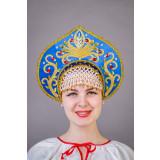 Russian folk costume KOKOSHNIKI Kokoshnik Kalinka 21902