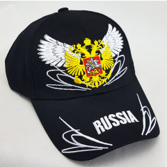 Headdress Baseball cap Russia, coat of Arms Russia, wings, black
