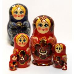 Nesting doll Sergiev-Posad 5 pcs. Eye Brow small