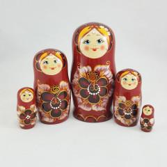 Nesting doll Sergiev-Posad 5 pcs. Eyelashes