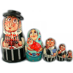 Nesting doll Sergiev-Posad 5 pcs. Jew with a candle