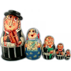 Nesting doll Sergiev-Posad 5 pcs. Jew with a violin small