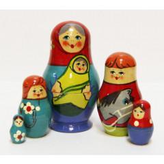 Nesting doll Sergiev-Posad 5 pcs. Children