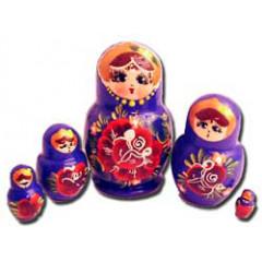 Nesting doll Sergiev-Posad 5 pcs. Flowers small