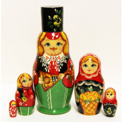 Nesting doll Sergiev-Posad 5 pcs. Man in a hat