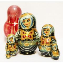 Nesting doll Sergiev-Posad 5 pcs. Butterfly