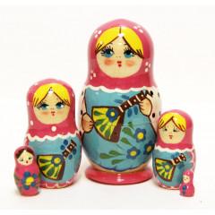 Nesting doll Sergiev-Posad 5 pcs. balalayka