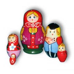 Nesting doll Sergiev-Posad 5 pcs. waistcoat