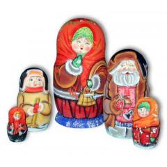 Nesting doll Sergiev-Posad 5 pcs. pshkd with a balance