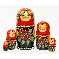 Nesting doll Sergiev-Posad 5 pcs. Mountain ash