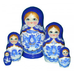 Nesting doll Sergiev-Posad 5 pcs. Gzgel